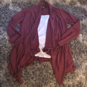 Burgundy open cardigan/sweater